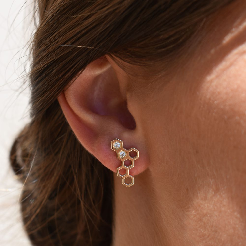 Honeycombs Wing Earrings