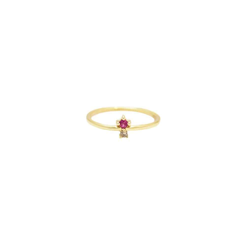 Azalea Ring gold rubies diamonds