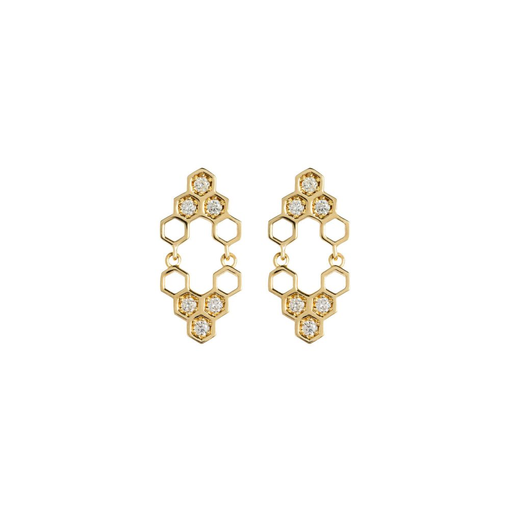 Honeycombs Mirall Earrings