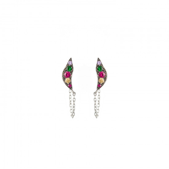 Broken Moon Nyx Rainbow Earrings