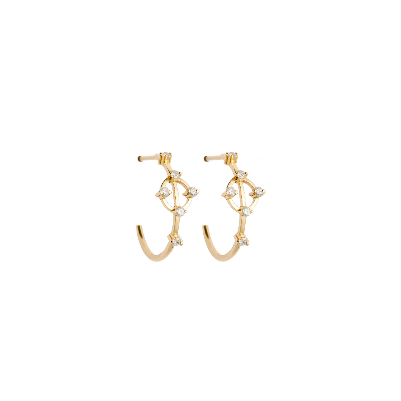 Astrum Cybele Hoops (White Diamonds)