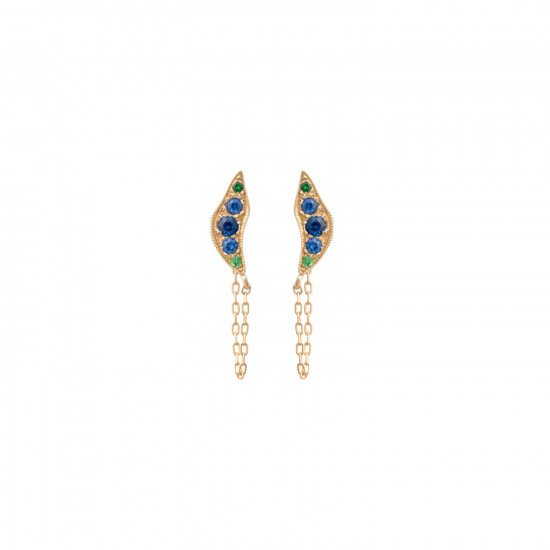Broken Moon Nyx Blue Earrings