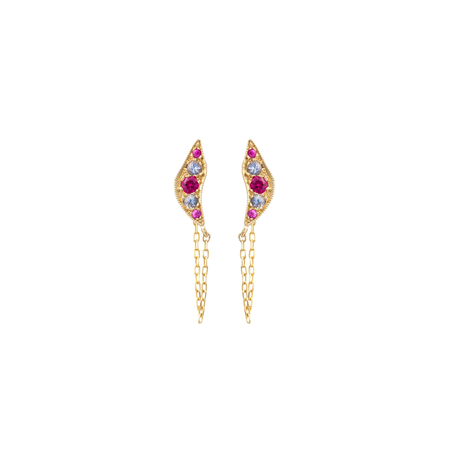 Broken Moon Nyx Pink Earrings