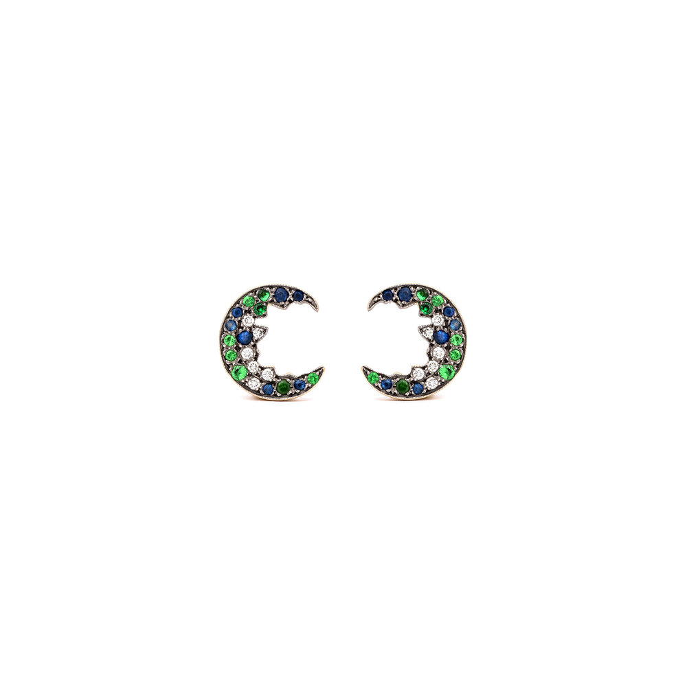 Broken Moon Broken Moon Green Earrings