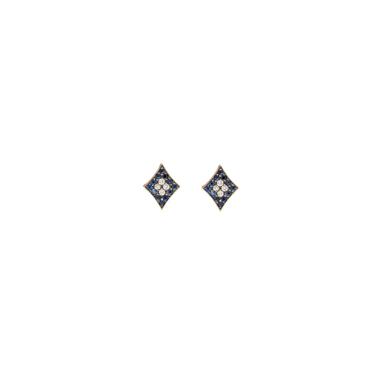 Curves & Edges Rhombi Earrings (Blue)