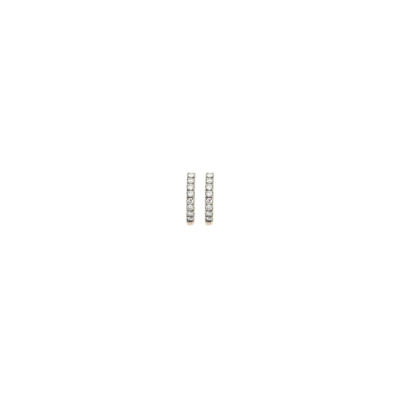 Curves & Edges Small Hoops (White Diamonds)