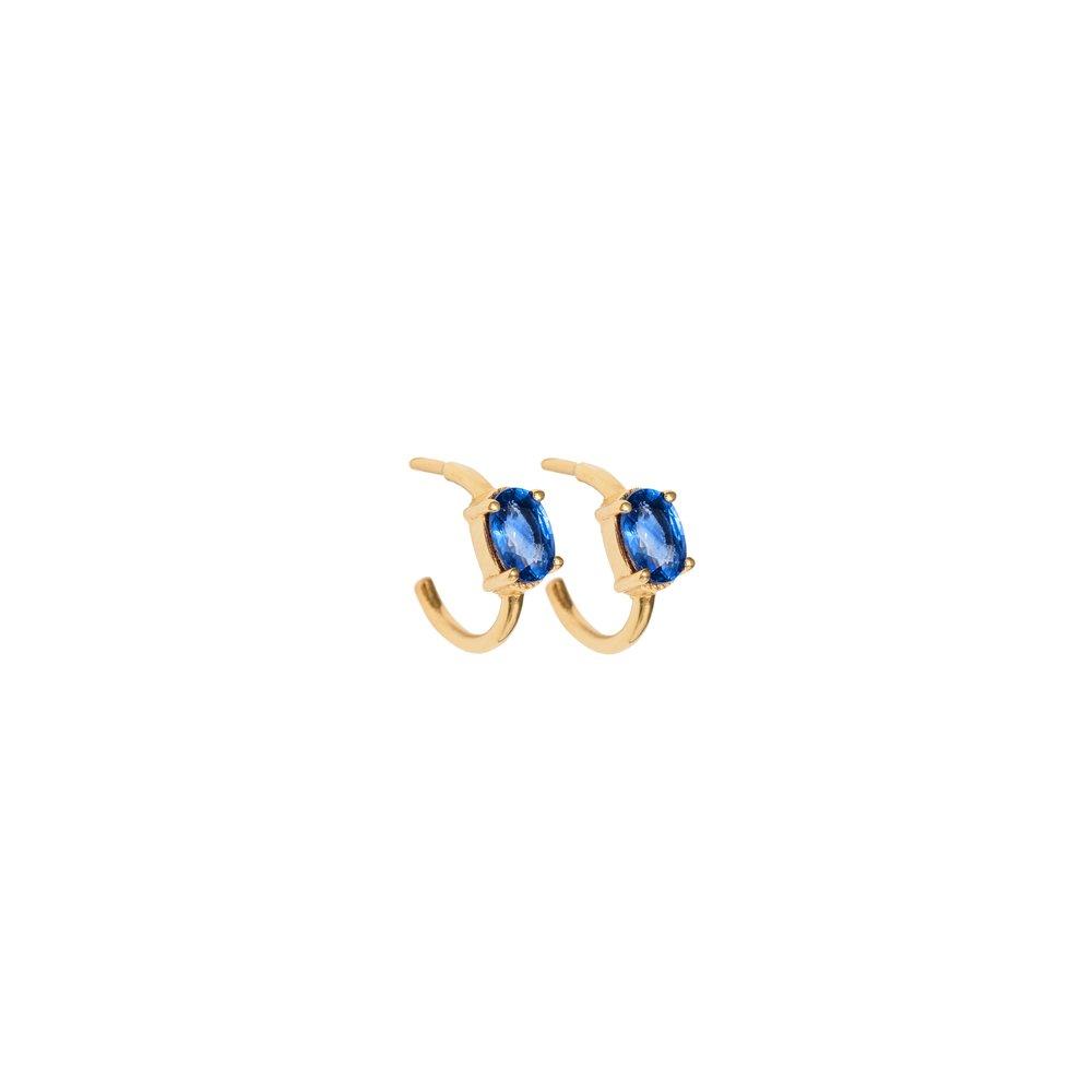 Astrum Chloe Small Hoops (Sapphires)
