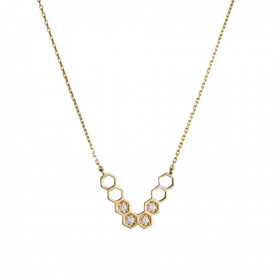 "Honeycombs ""V"" Necklace"