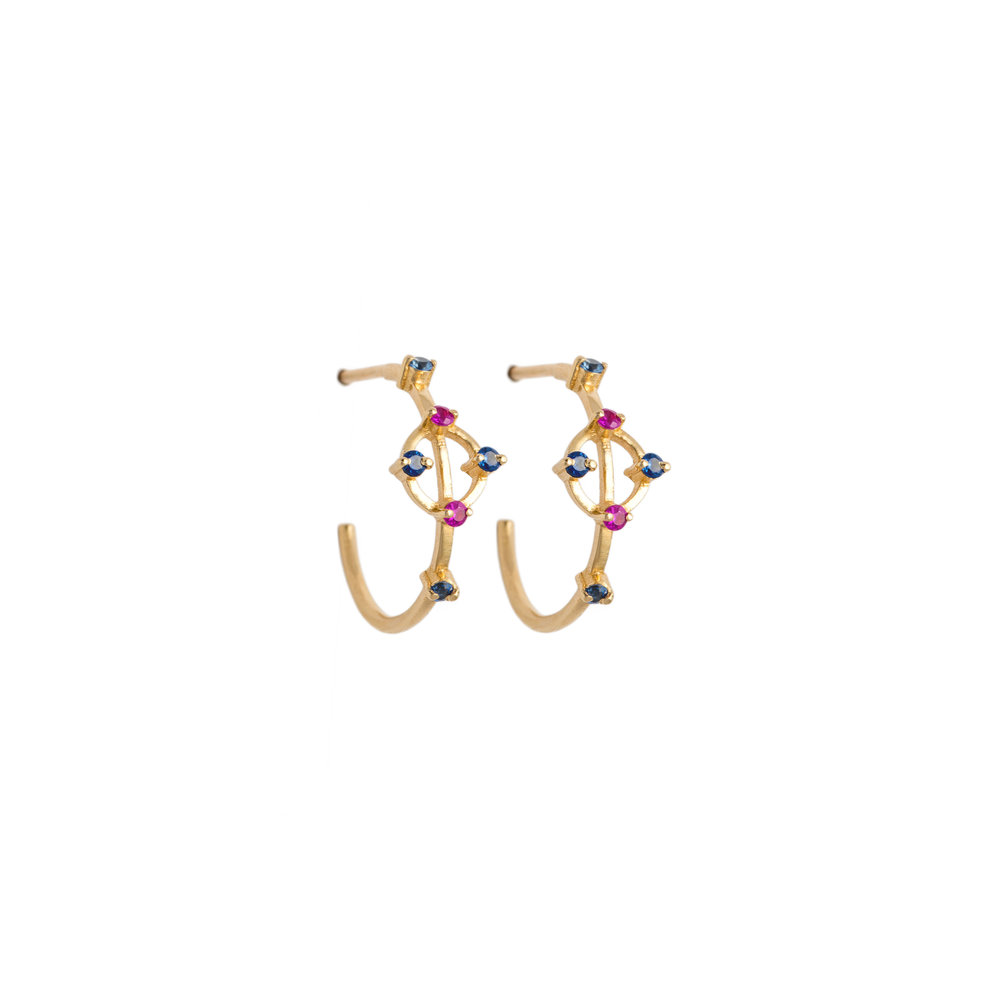 Astrum Cybele Hoops (Sapphires)