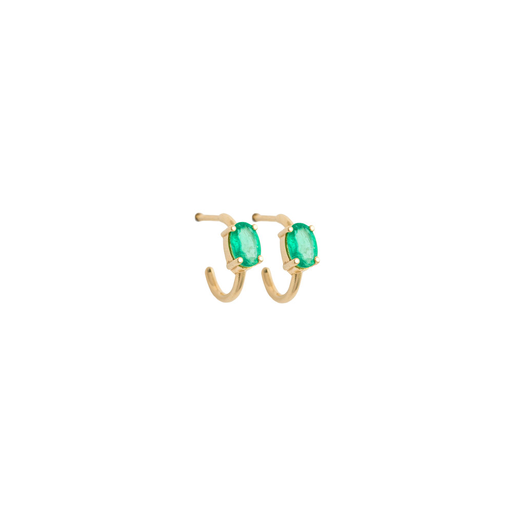 Astrum Chloe Small Hoops (Emeralds)