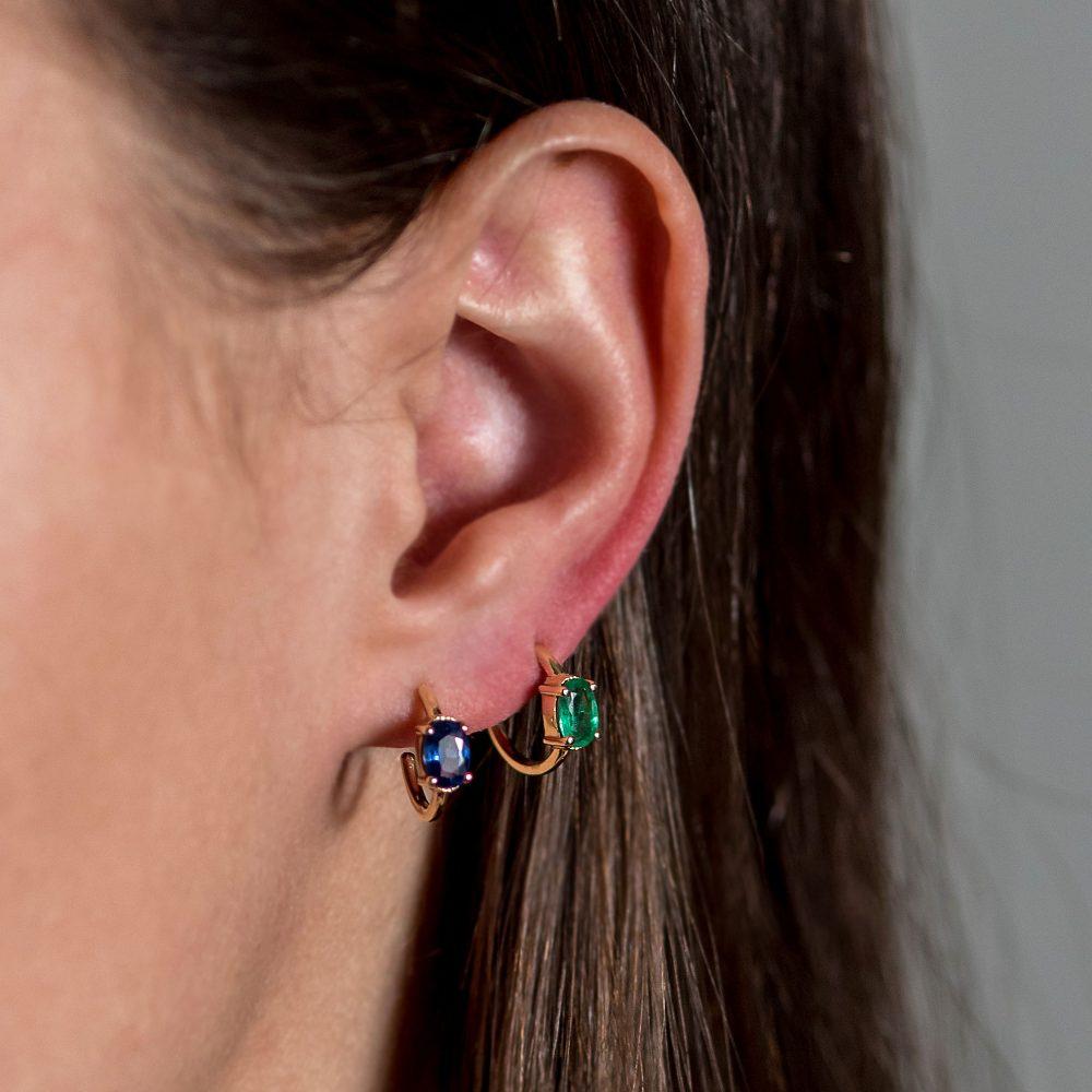 Astrum Chloe Small Hoops (Emeralds)