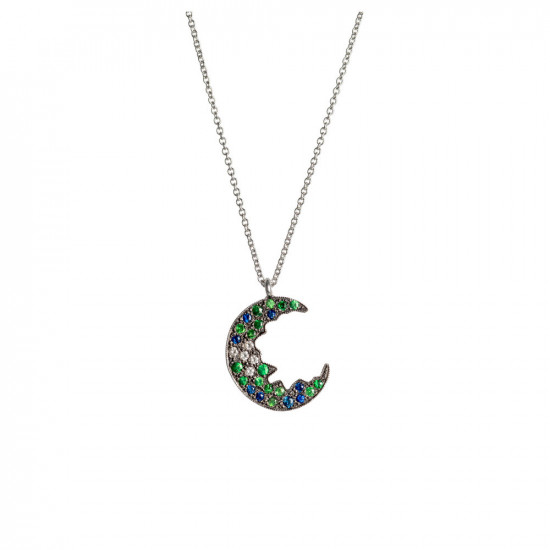 Broken Moon Broken Moon Green Necklace
