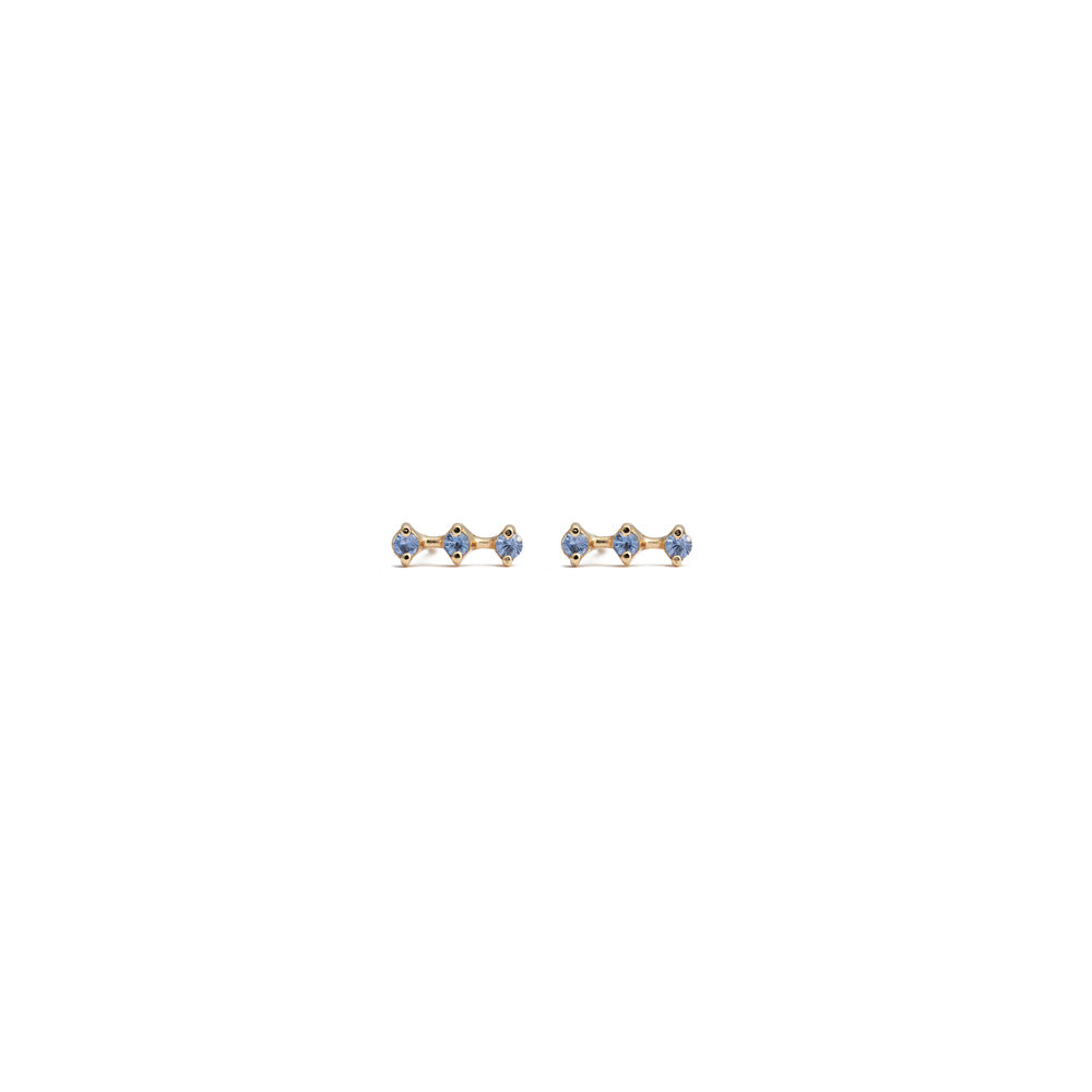 Astrum Orion Small Earrings (Sapphires)