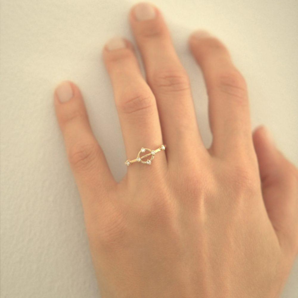 cybele ring white diamonds gold