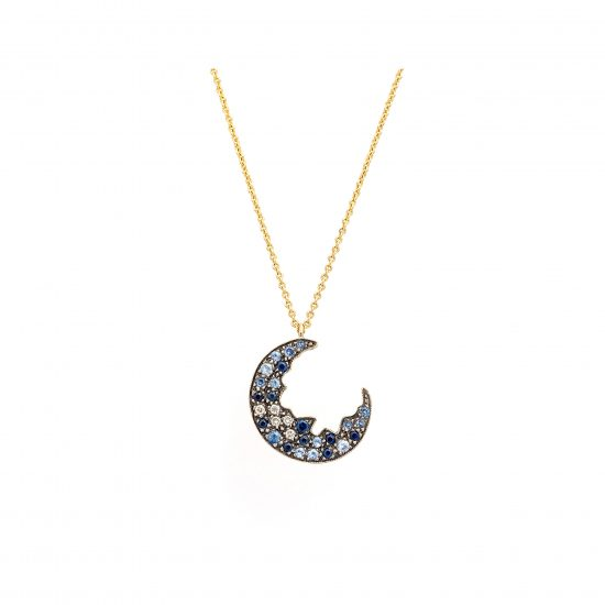 Broken Moon Broken Moon Blue Necklace