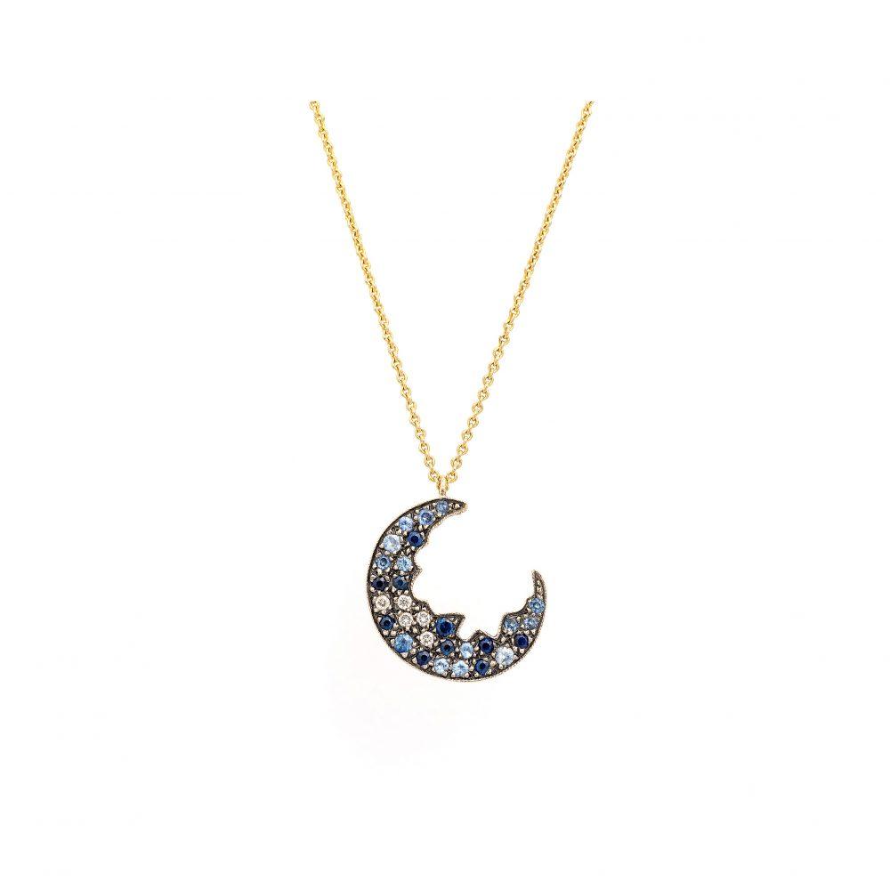 Broken Moon Broken Moon Blue Necklace