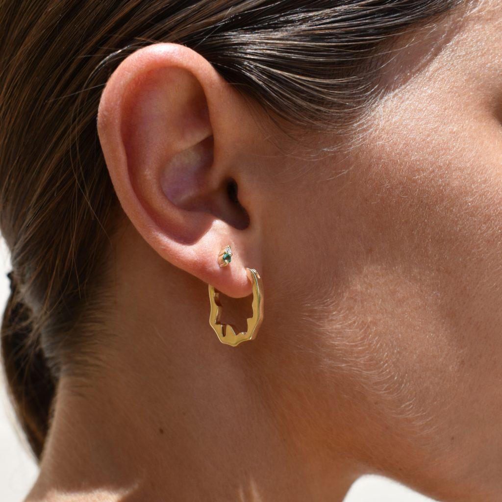 amalthea earrings gold hoops