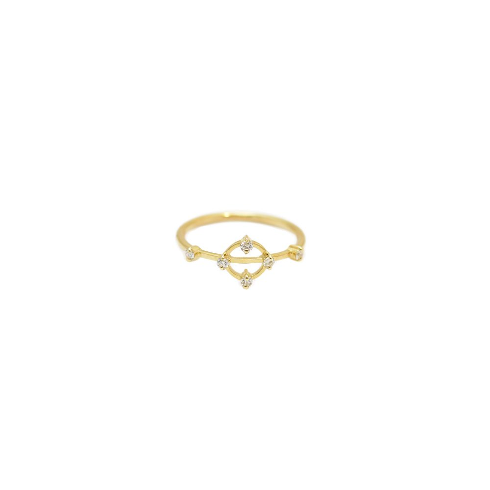 cybele ring gold white diamonds