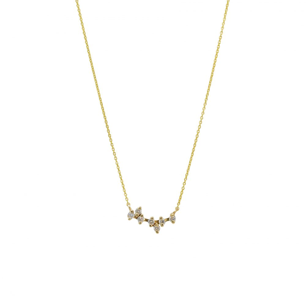 leora necklace white diamonds gold