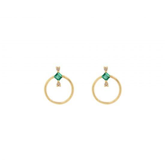 amira earrings diamonds emeralds gold