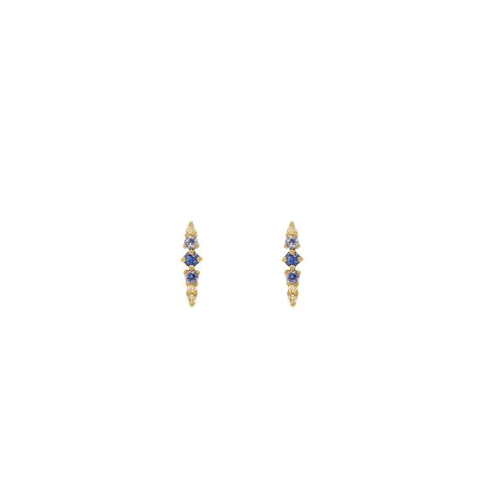 needle earrings gold sapphires diamonds
