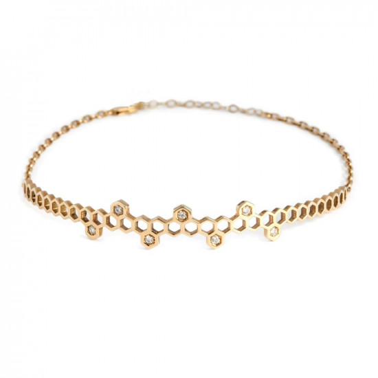 Honeycombs Honeycombs Crown Choker