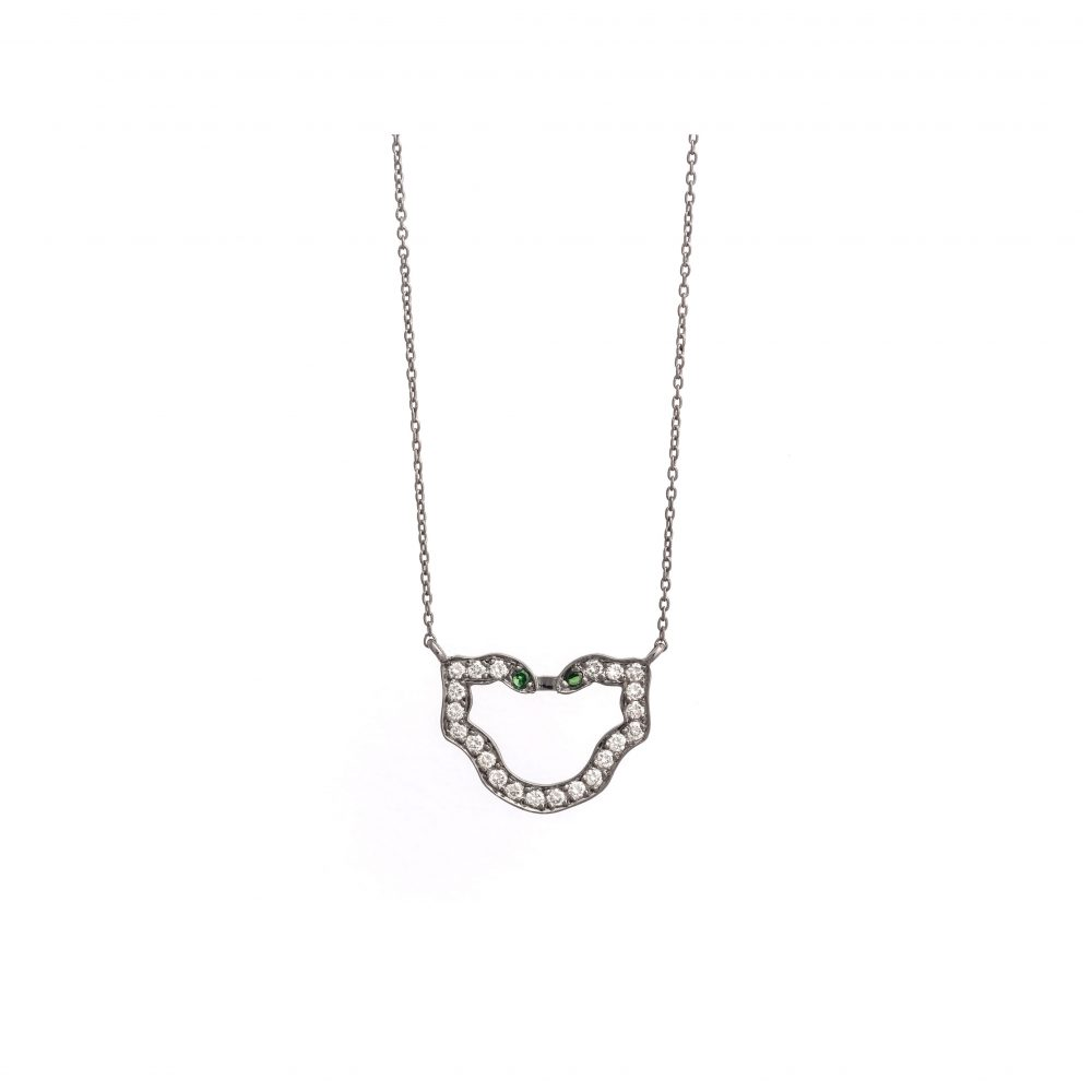 Curves & Edges Semele Necklace (White Diamonds)