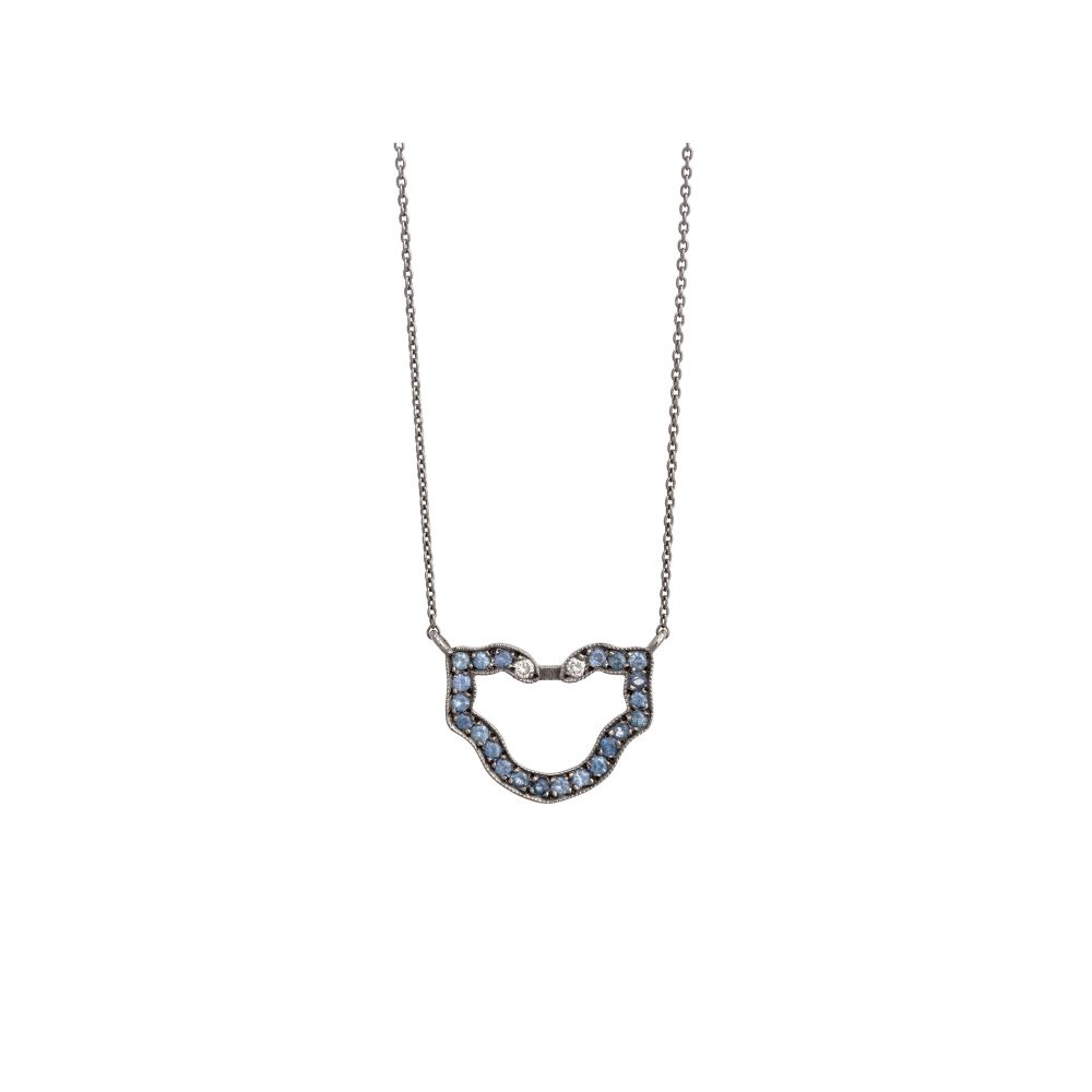 Curves & Edges Semele Necklace (Sapphires)