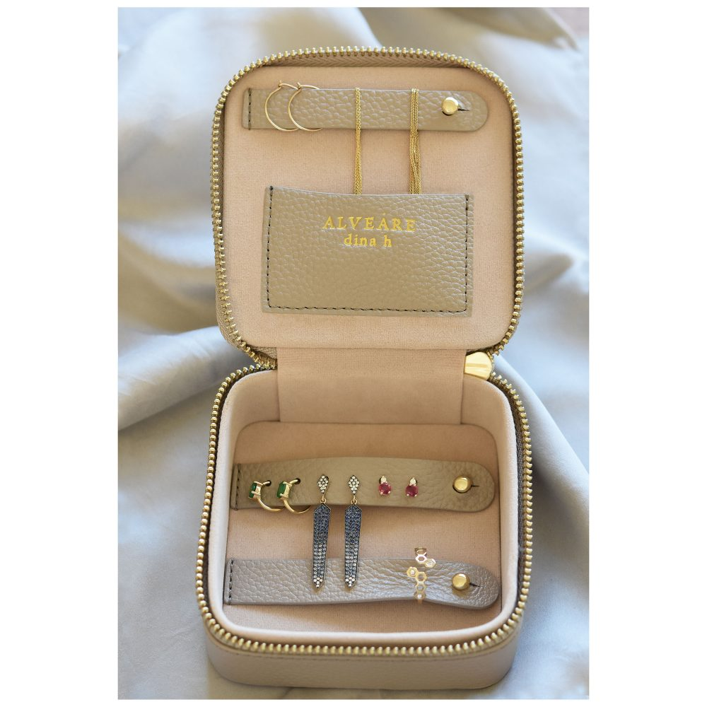 jewelry case travel leather alveare