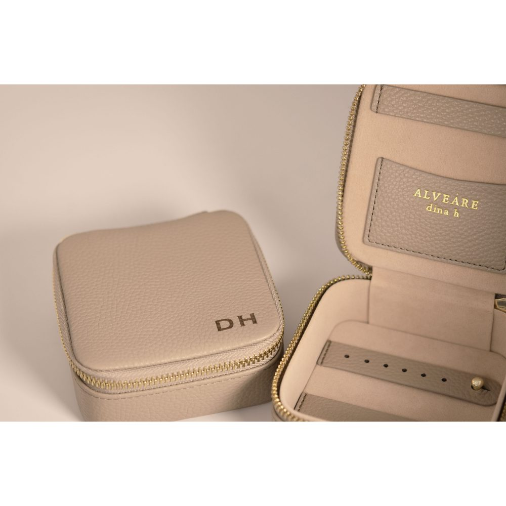 alveare jewelry case travel organize leather personalization