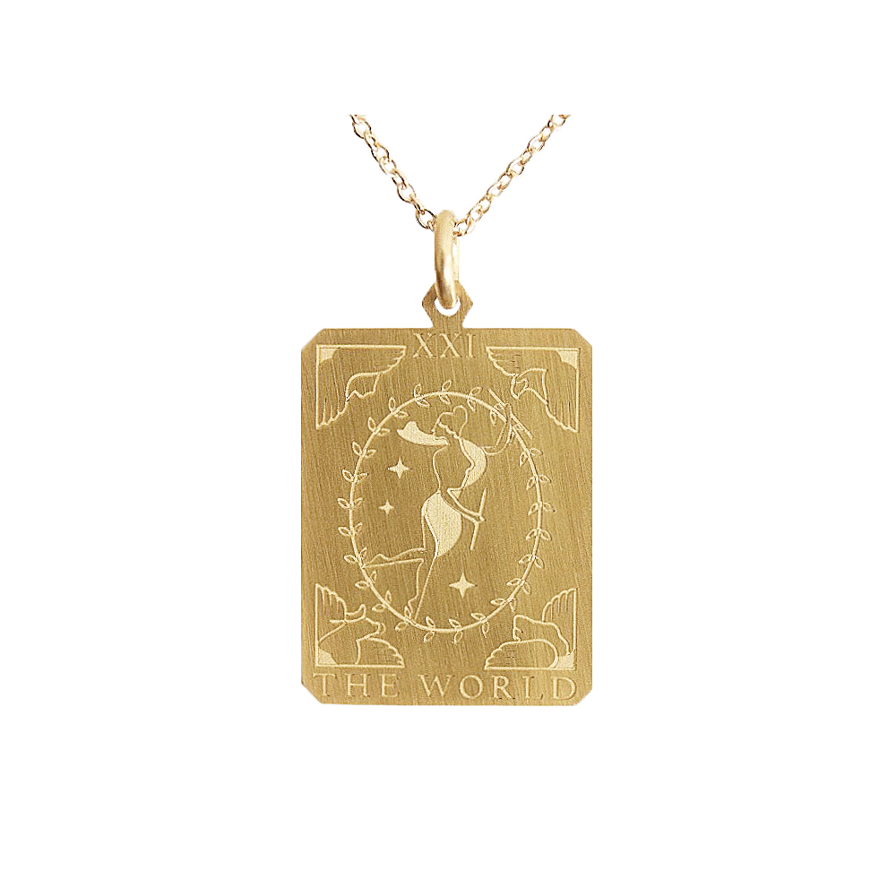 The World 2021 Lucky Charm Gold plated silver necklace
