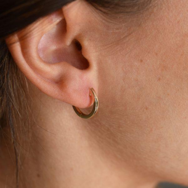 juno medium hoops gold earrings