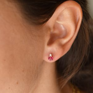 Astrum Gia Big Earrings (Rubies)