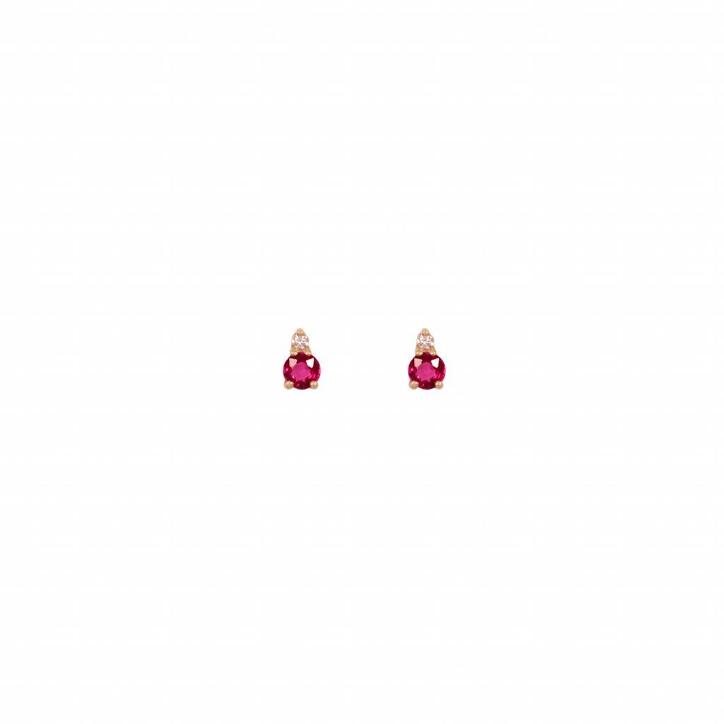 gia big earrings rubies white diamonds gold