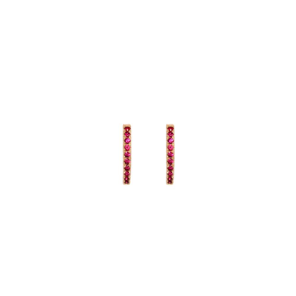 juno medium hoops rubies gold earrings