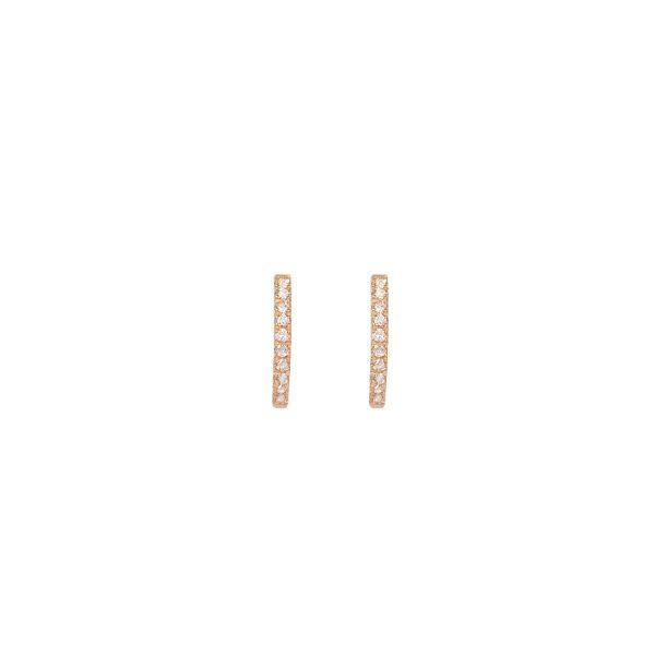 juno medium hoops white diamonds gold earrings