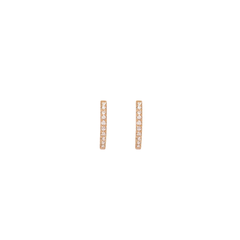 Curves & Edges Juno Medium Hoops (White Diamonds)