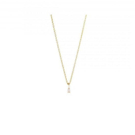 gia tiny necklace white diamonds gold