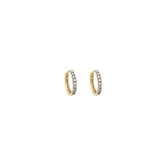 small hoops gold sapphires